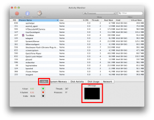 Monitor cpu activity to diagnose AirParrot audio problems
