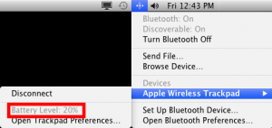 Check Apple Magic Trackpad battery life