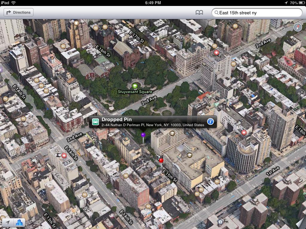 iOS 6 Maps is correct