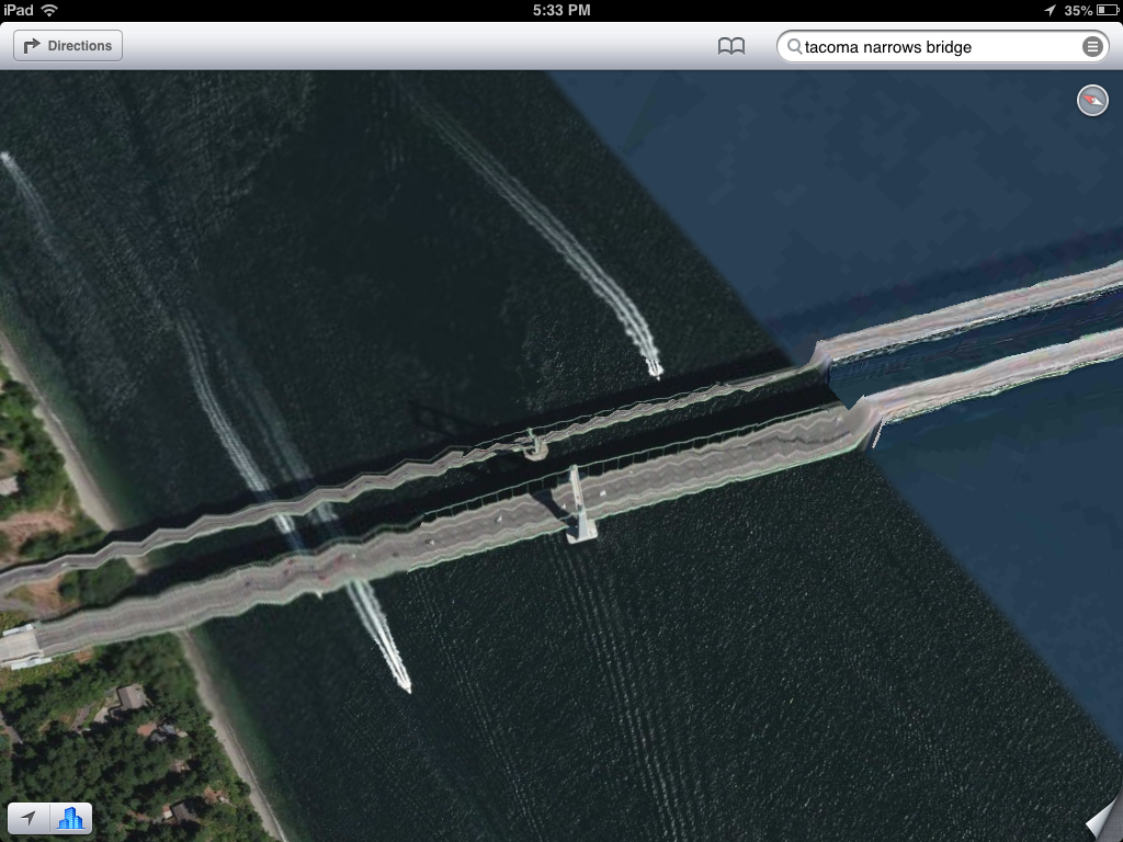 Tacoma Narrows Bridge melting