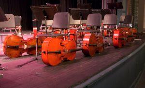 cellos on floor