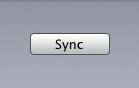 iTunes sync button