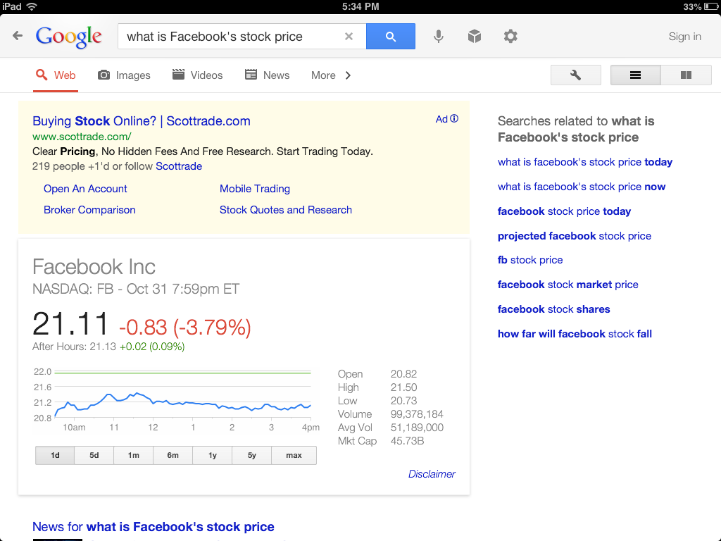 Scottrade Quotes And Research Google Search With Voice  Page 2  Appledystopia