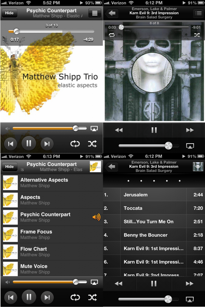 Amazon Cloud Player vs. iOS Music