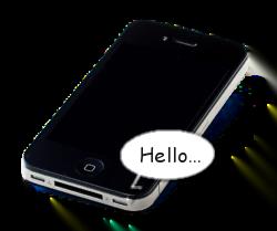 iPhone speaking