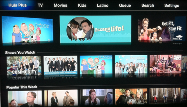 Hulu Plus updated for Apple TV 5.2.1