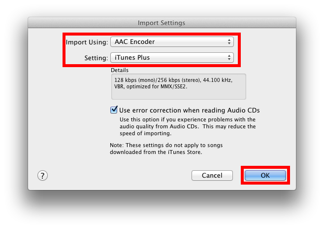 Change import settings to AAC to render a ringtone