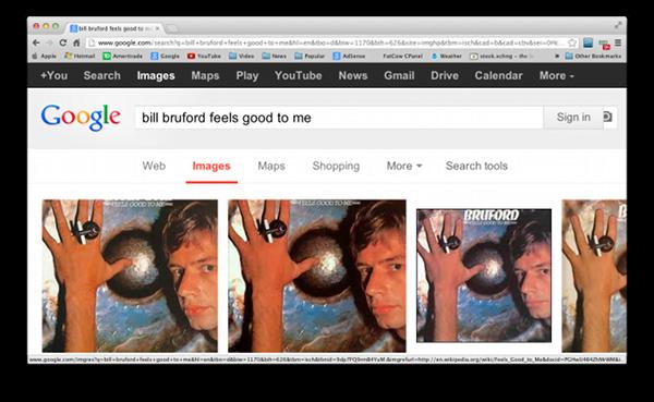 Find album artwork with Google Images