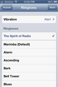 Set custom ringtone on iPhone