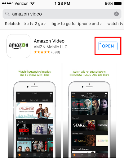 Open Amazon Video App