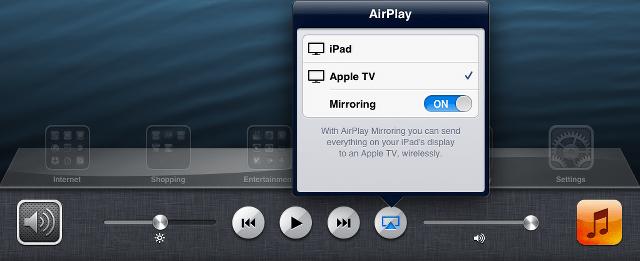 Turn on main AirPlay screen mirroring