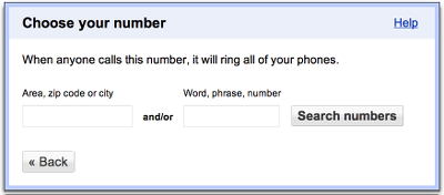 Choose Google Voice phone number