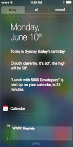 iOS 7 Notification Center