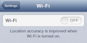 iPhone with grayed out WiFi