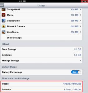 iOS 6.1.3 battery life