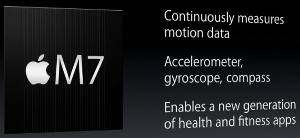 M7 motion co-processor for iPhone 5S