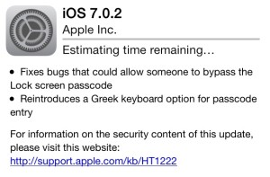 iOS 7.0.2 update