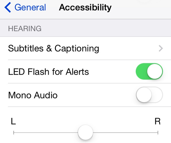 Flash iPhone LED for alerts