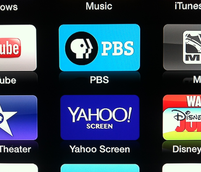 PBS and Yahoo Screen for Apple TV