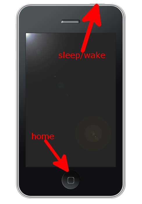 reset iPhone with sleep wake and home buttons