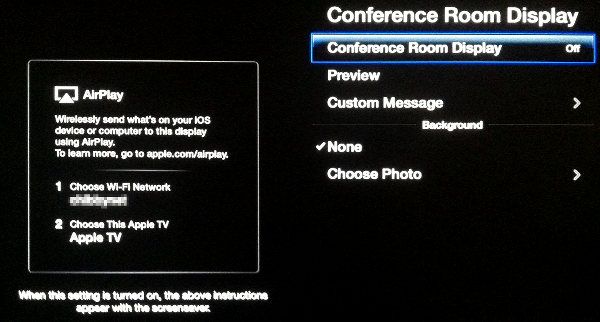 Apple TV Conference Room Display