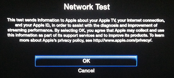 test network with Apple TV