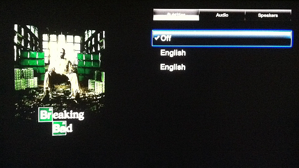 view video options on Apple TV