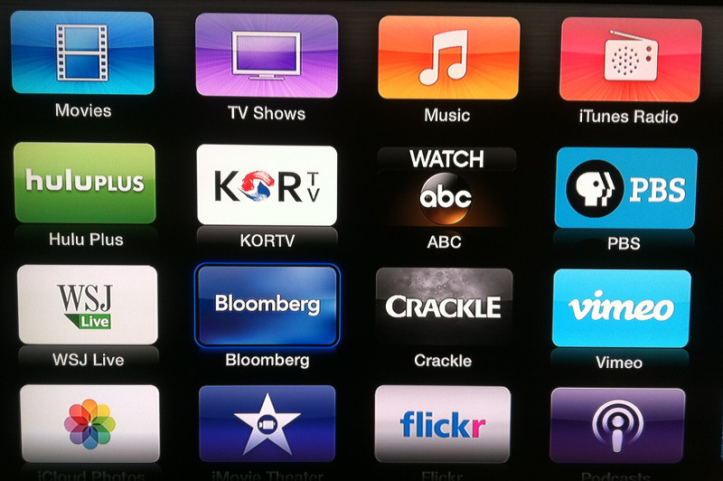 Apple TV adds Bloomberg, Crackle, ABC and KORTV