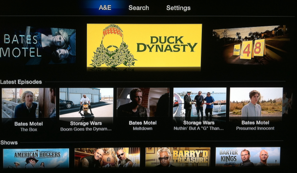 A&E Channel for Apple TV