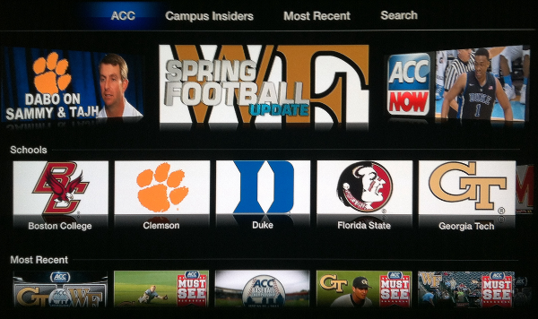ACC Sports for Apple TV