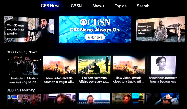 CBS News on Apple TV