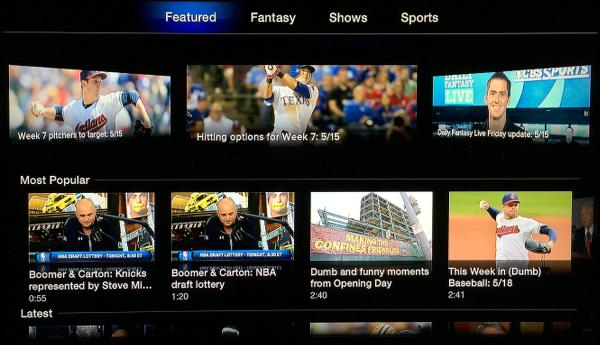 CBS Sports on Apple TV