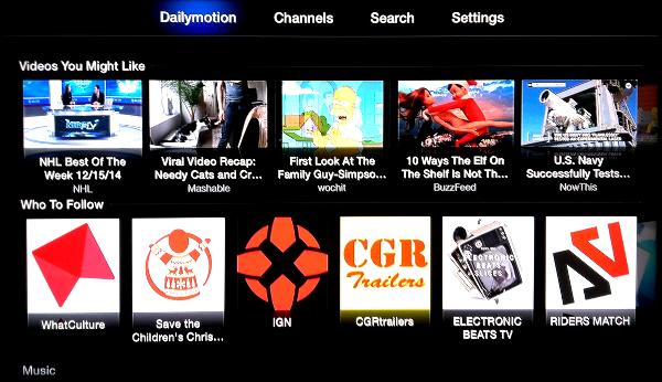 Dailymotion on Apple TV