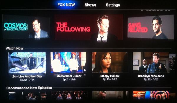 FOX NOW on Apple TV