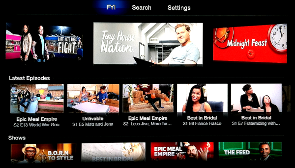 FYI on Apple TV