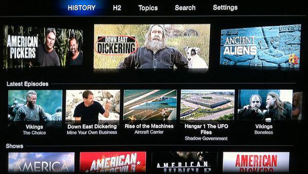 History on Apple TV