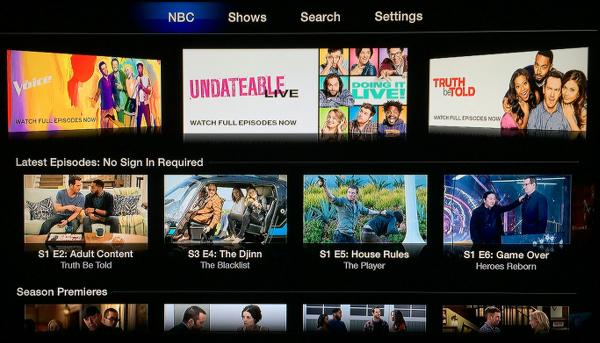 NBC for Apple TV