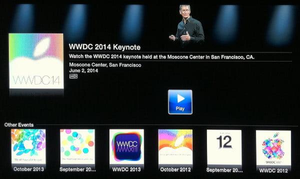 Apple Events on Apple TV