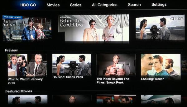 Apple TV HBO GO