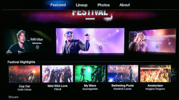 Apple TV iTunes Festival