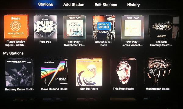 Apple TV iTunes Radio