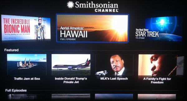 Apple TV Smithsonian Channel