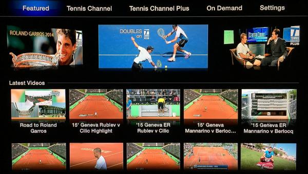 Tennis Channel Everywhere on Apple TV