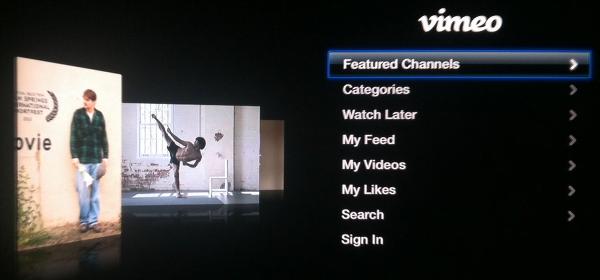 Apple TV Vimeo