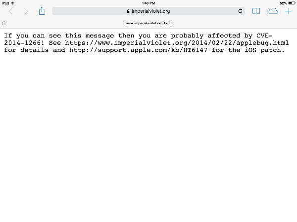Safari for iOS has the SSL verification flaw