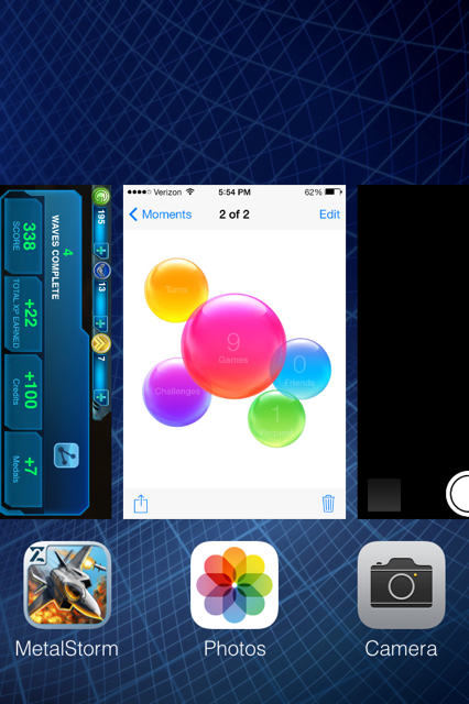 iOS 7 multitasking view