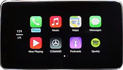 CarPlay in-dash display