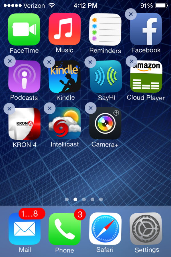 delete apps from iPhone home screen