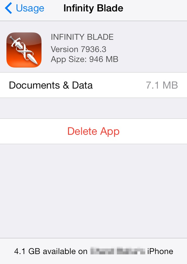 delete apps from iPhone usage screen
