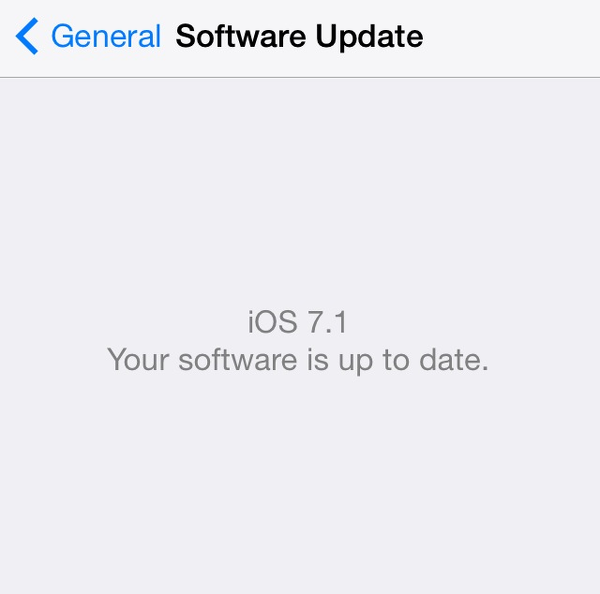iPhone upgraded to iOS 7.1